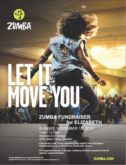 Zumba Fundraiser for Elizabeth