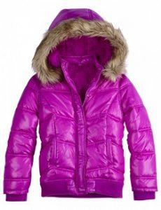 puffer coat faux fur hood justice