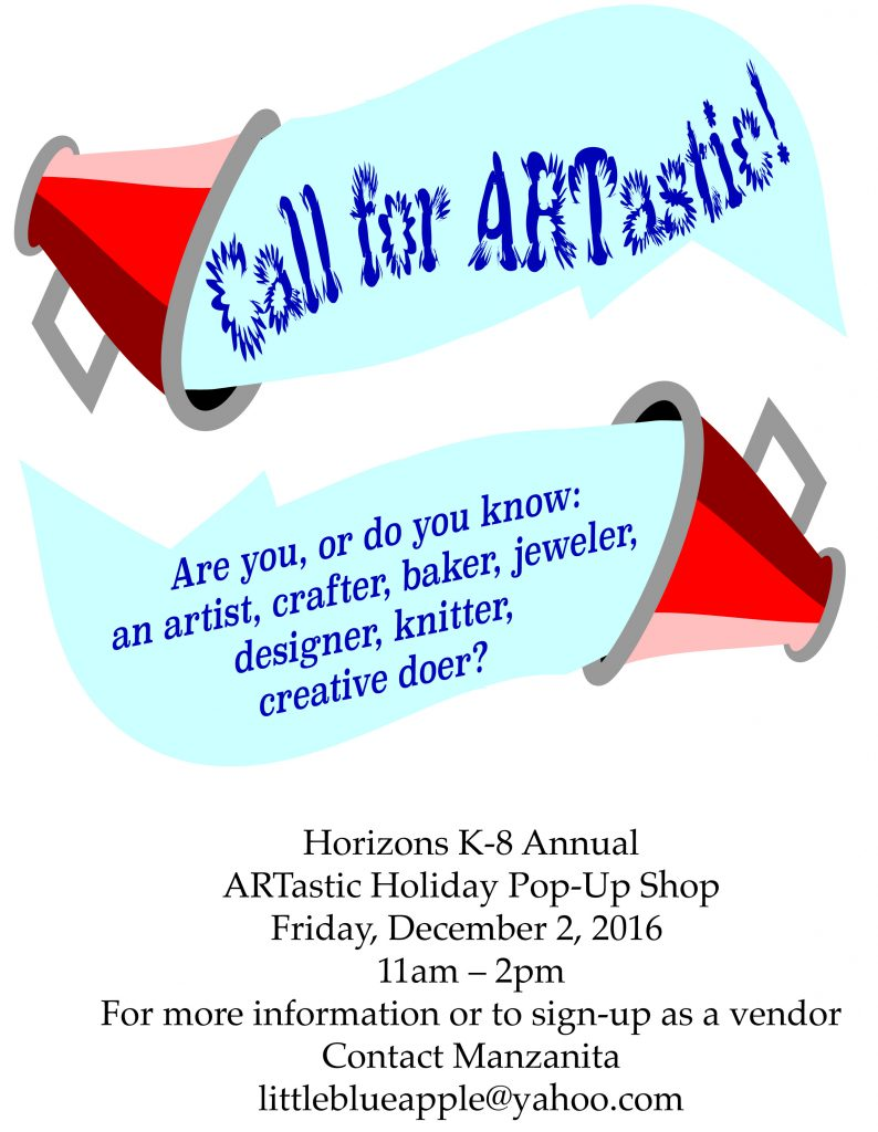 ARTastic ARTist Call Flyer