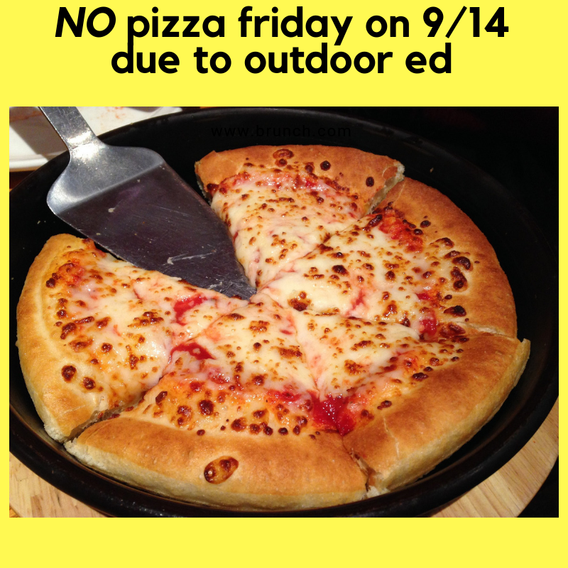 No Pizza on 9/14