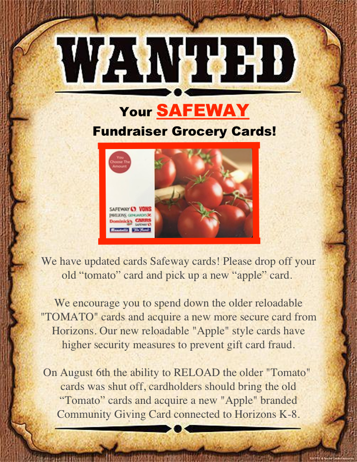 Wanted- Safeway Gift Cards