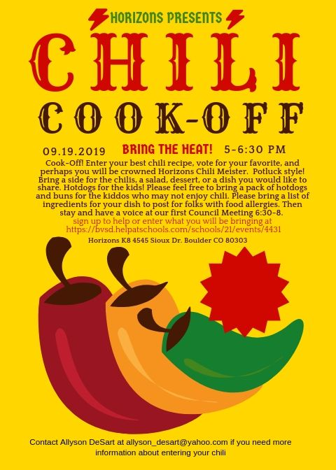 Chili and Council on September 19