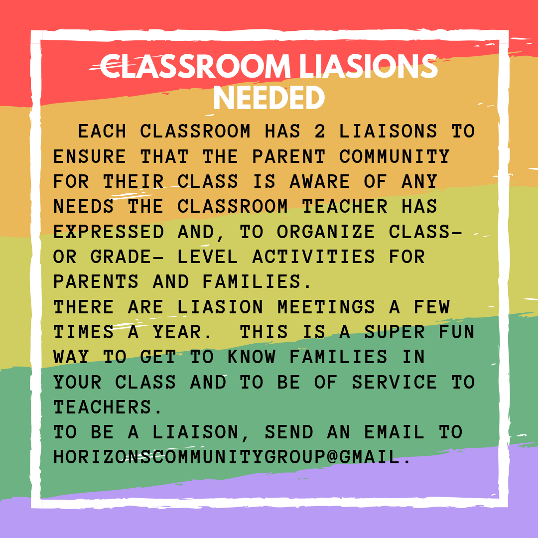 Classroom Liasions Needed...can you help?